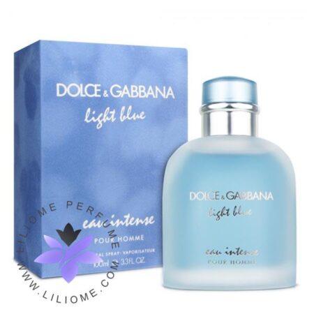 عطر ادکلن دلچه گابانا لایت بلو او اینتنس مردانه-Dolce Gabbana Light Blue Eau Intense Pour Homme