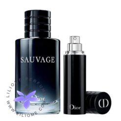 عطر ادکلن دیور ساواج ادوتویلت 10+100 میل کادویی   Dior Sauvage EDT 110ml