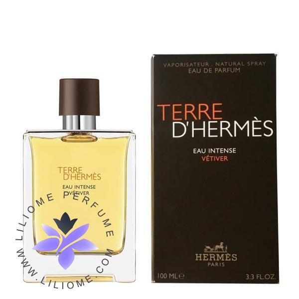 عطر ادکلن هرمس تق هرمس او اینتنس وتیور   Hermes Terre D'Hermes Eau Intense Vetiver